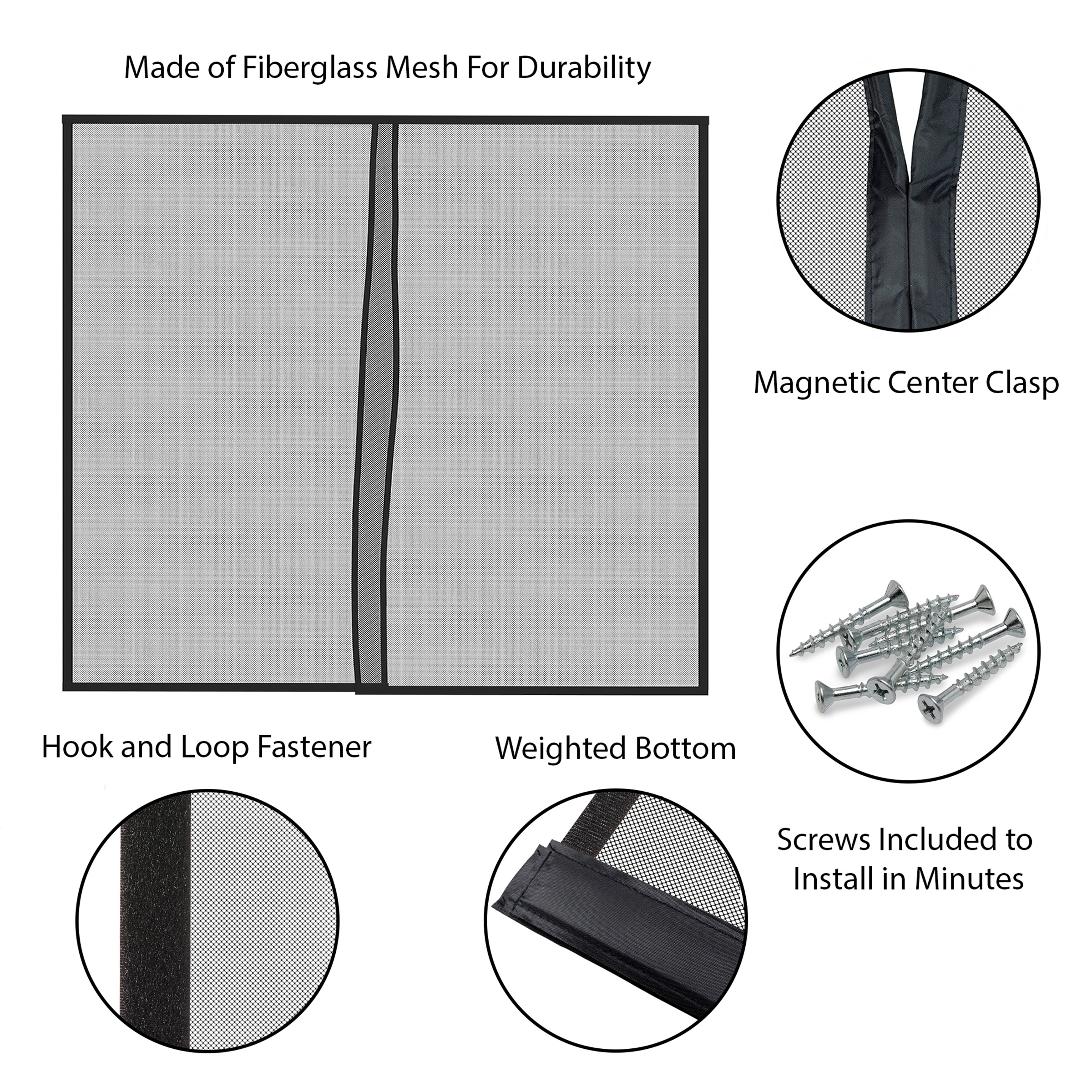 magnetic garage door screen for one car garage heavy duty weighted garage enclosure curtain by pure garden