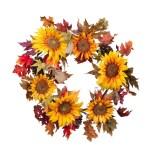 Vickerman 357194 24 Sunflower Burlap Pine Cone Wreath P146124 Home Office Wreath Walmart Com Walmart Com