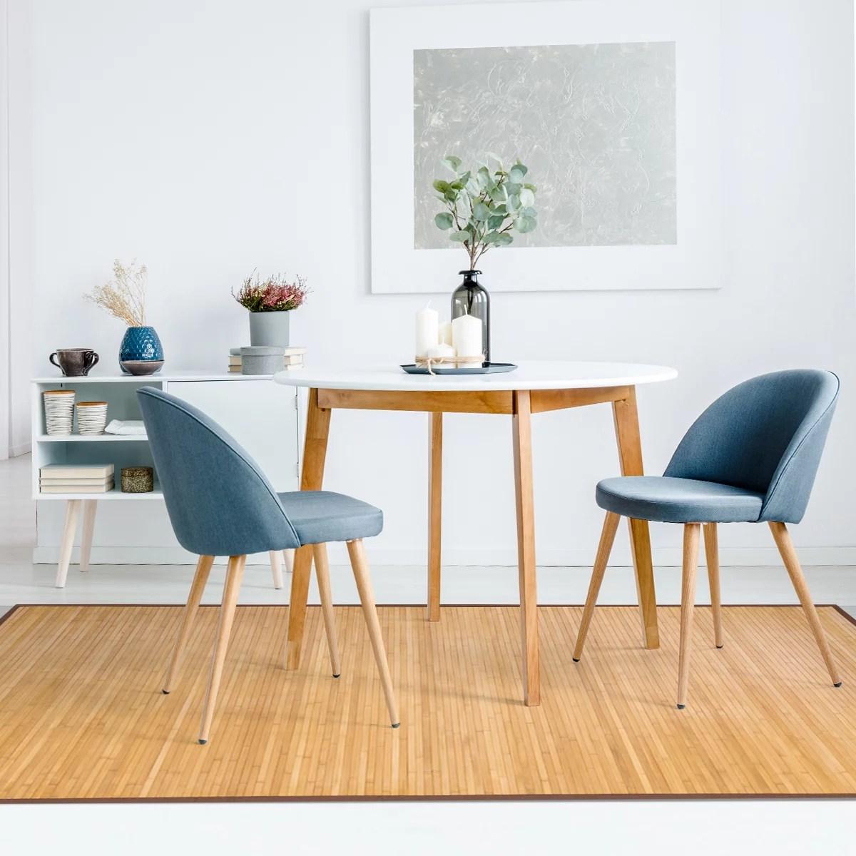 costway tapis en bambou cuisine ou salle de bain rectangulaire 150 x 240 cm marron avec sous tapis antideparant pour salon chambre