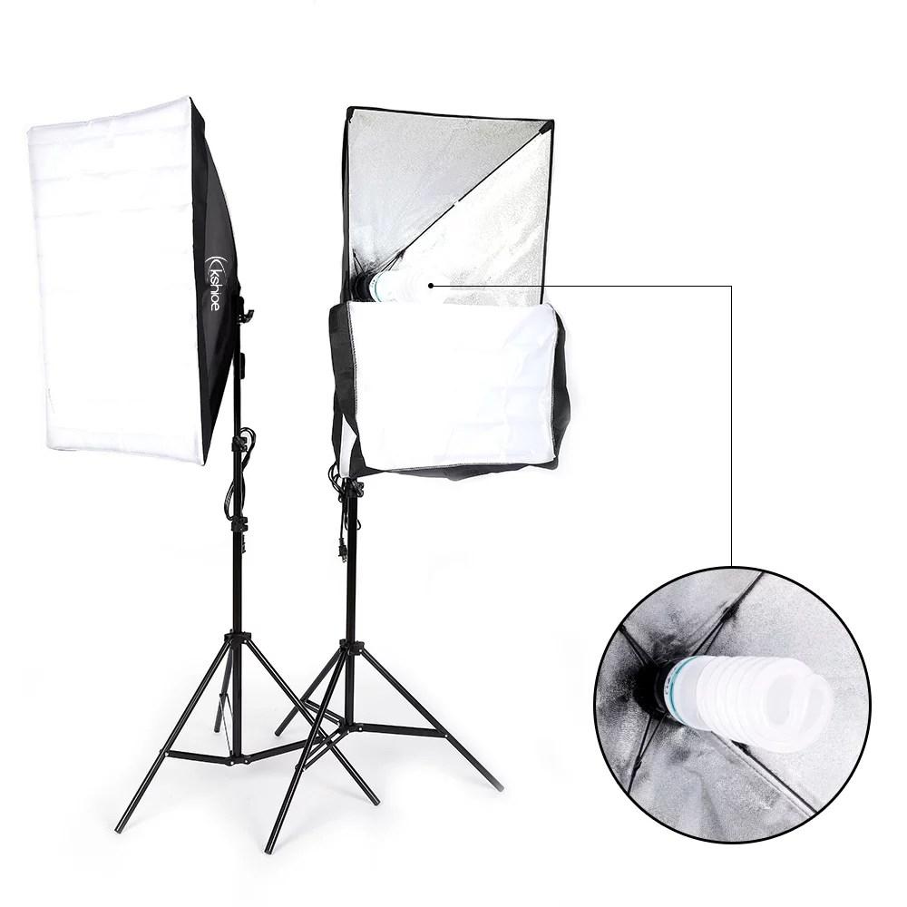 ubesgoo 135w photography studio softbox continuous lighting soft box light stand kit