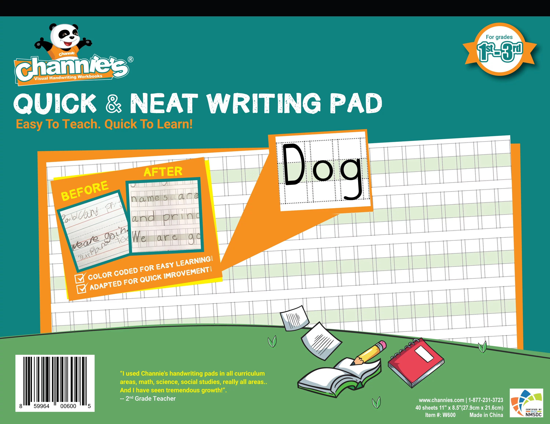 Channie S Quick Amp Neat Handwriting Workbook Worksheet