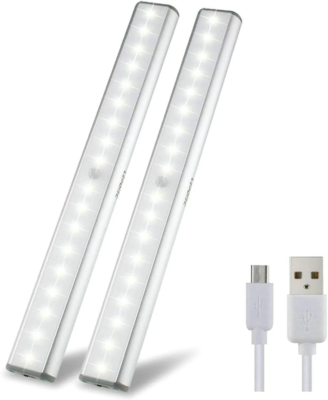 under cabinet lights closet lights motion sensor 18 leds usb rechargeable wireless under cabinet lighting magnetic stick on anywhere led night lights