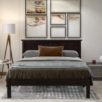 Queen Platform Bed Frame Newest Wooden Queen Bed Frame With Headboard Great For Boys Girls Kids Teens And Adults No Box Spring Needed Modern Bedroom Furniture Espresso W7439 Walmart Com Walmart Com