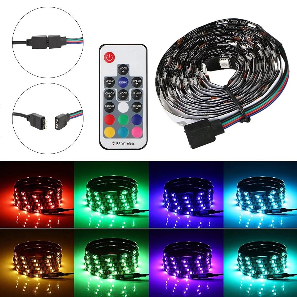willstar led strip light for pc case rgb gaming magnet kit atmosphere lighting 11 8 inches