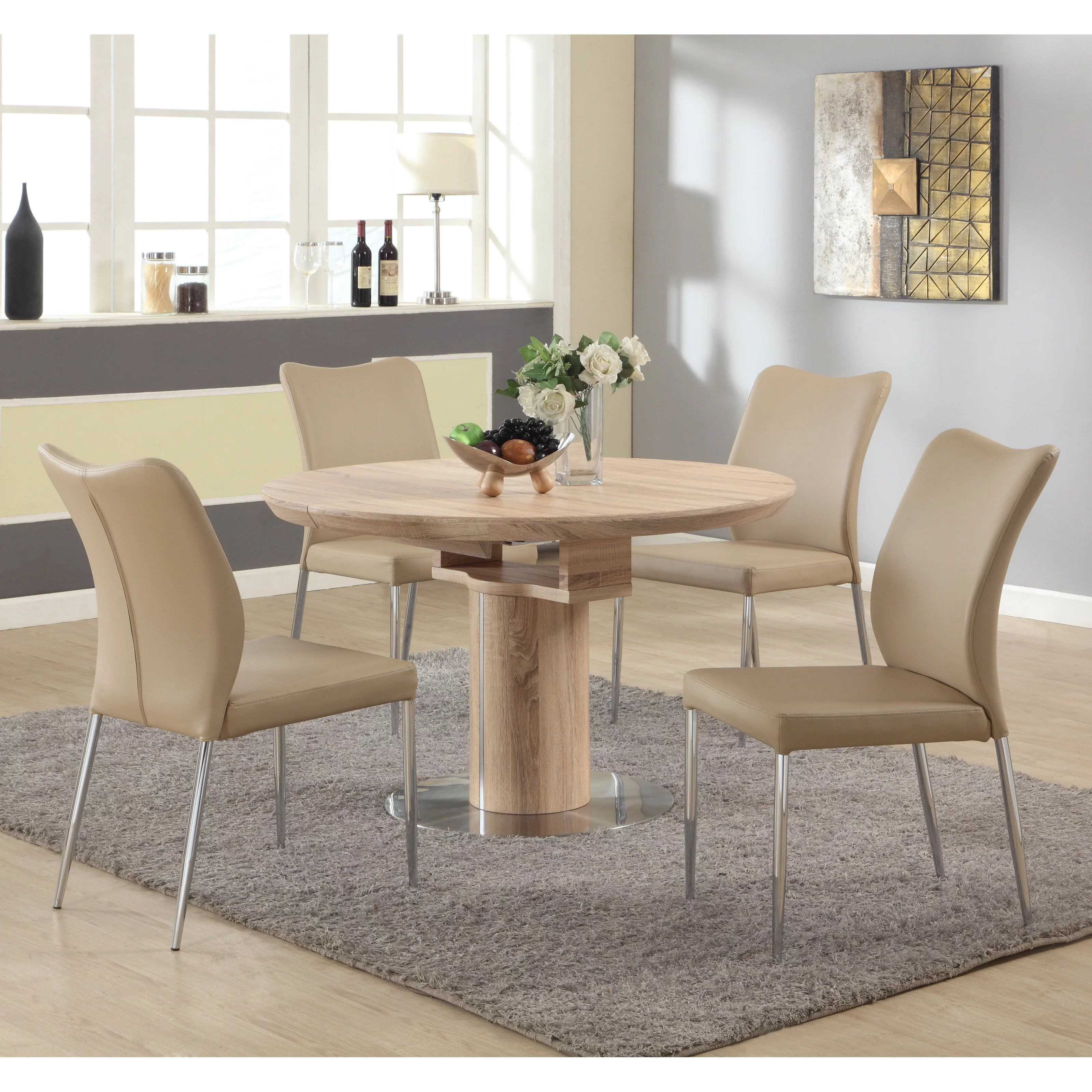 Chintaly Nora 5 Piece Dining Table Set