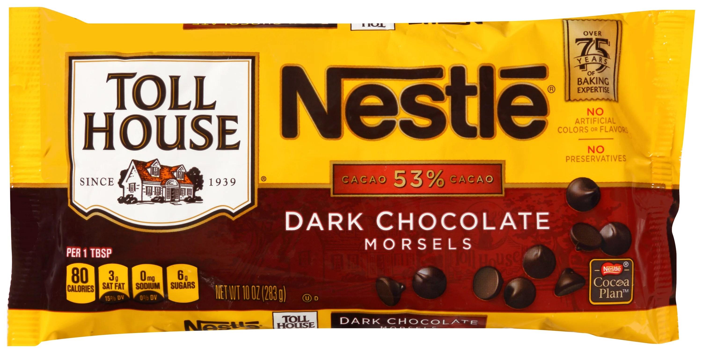 Nestle TOLL HOUSE Dark Chocolate Morsels 10 oz Bag