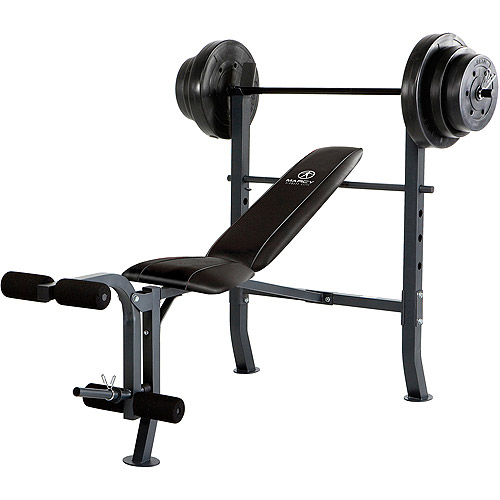 Marcy Standard Bench With 100 Lb Weight Set Md 2082w