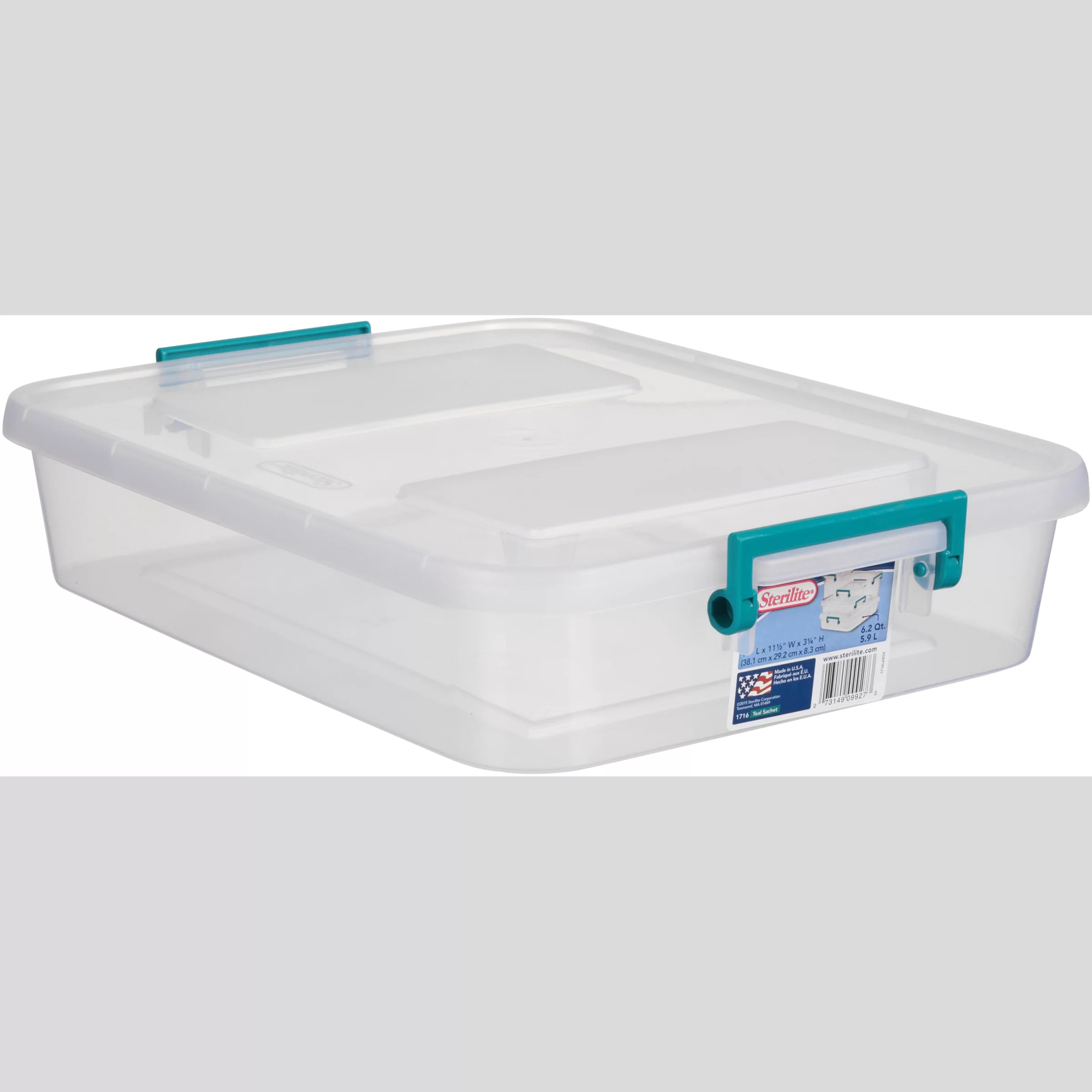 Sterilite 6.2 qt Modular Latch Box, Teal Sachet (Available ...