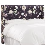 King Wingback Headboard In Soft Floral Burgundy Walmart Com Walmart Com