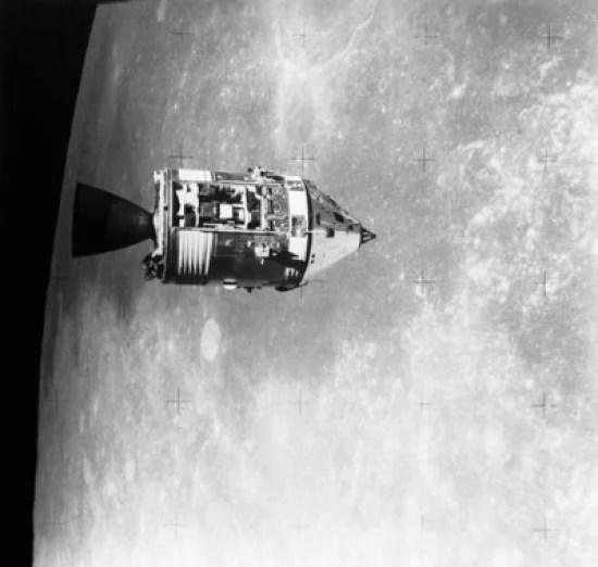 Satellite orbiting the moon Apollo 15 Apollo Command and ...