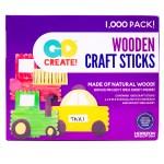 Go Create Natural Wood Craft Sticks 1000 Count Natural Wood Walmart Com Walmart Com