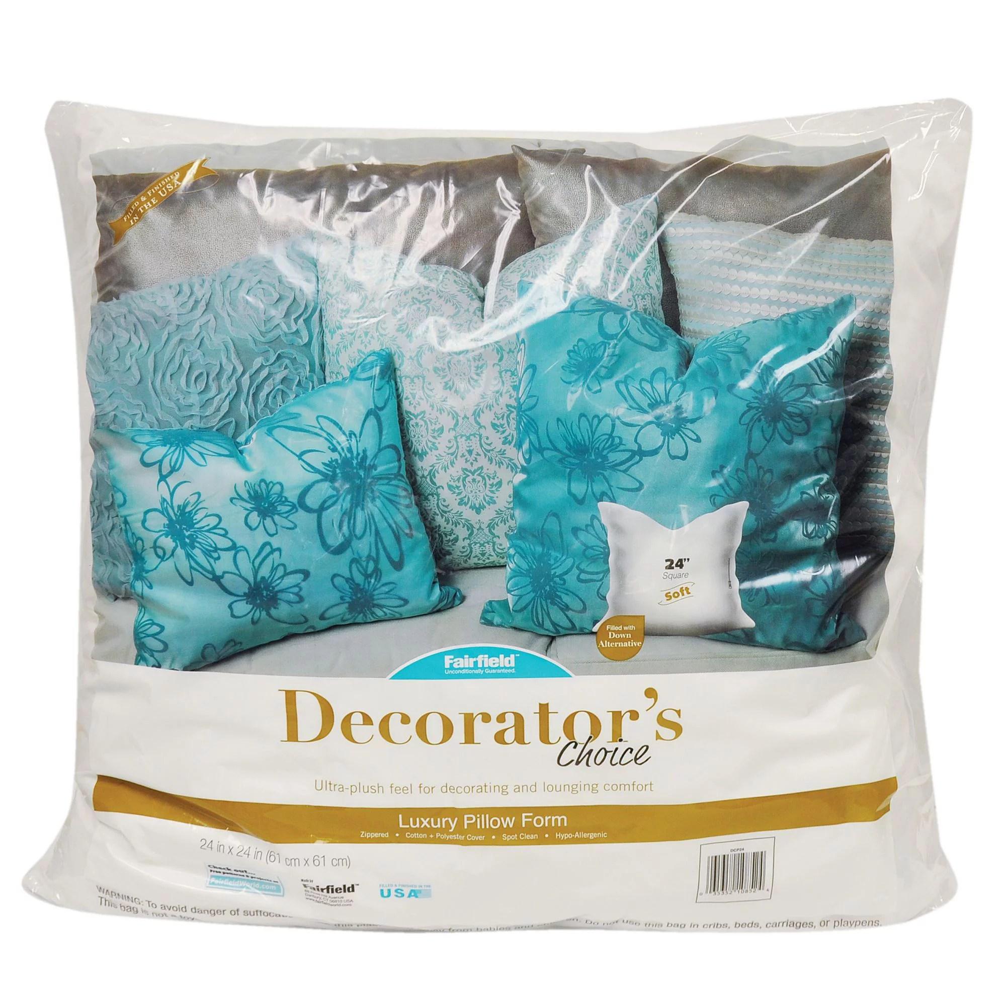 fairfield decorator s choice pillow insert 24 x 24 1 each walmart com