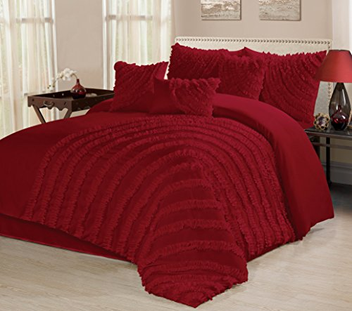7 piece hillary bed in a bag ruffled clearance bedding on walmart bedroom furniture clearance id=83721
