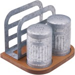 Better Homes Gardens Galvanized Salt Pepper Napkin Holder Set Walmart Com Walmart Com