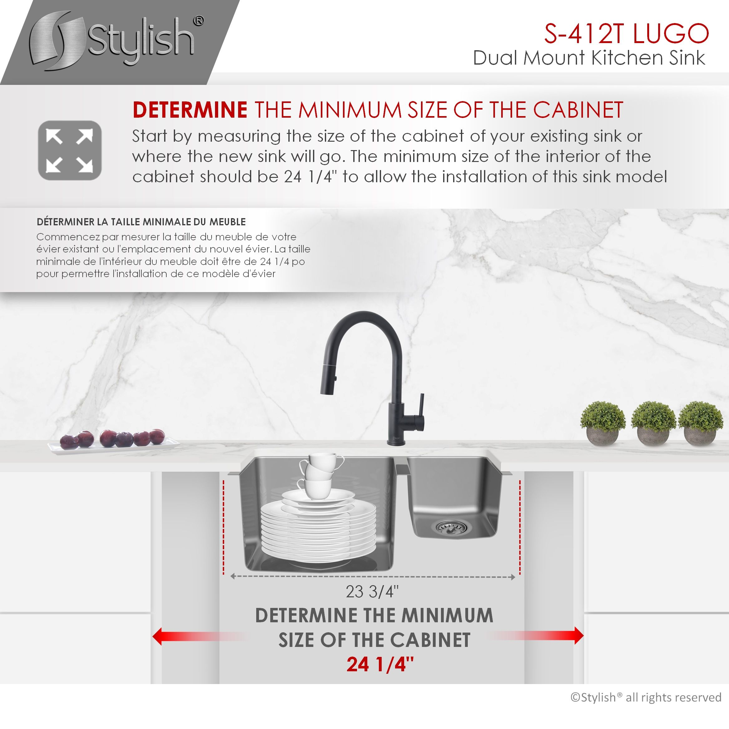 stylish 23 inch double bowl undermount and drop in stainless steel kitchen sink
