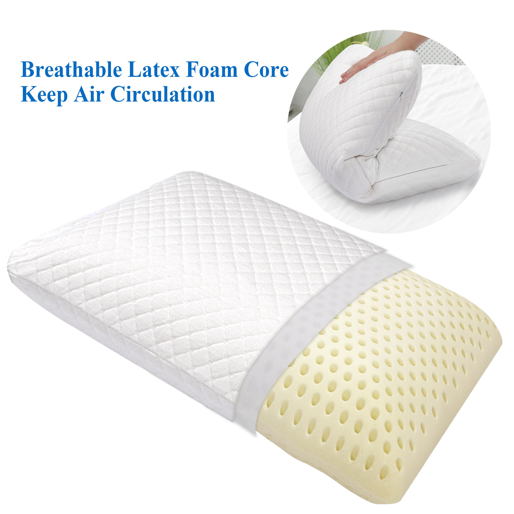 talalay latex pillow for sleeping organic cotton cover standard size