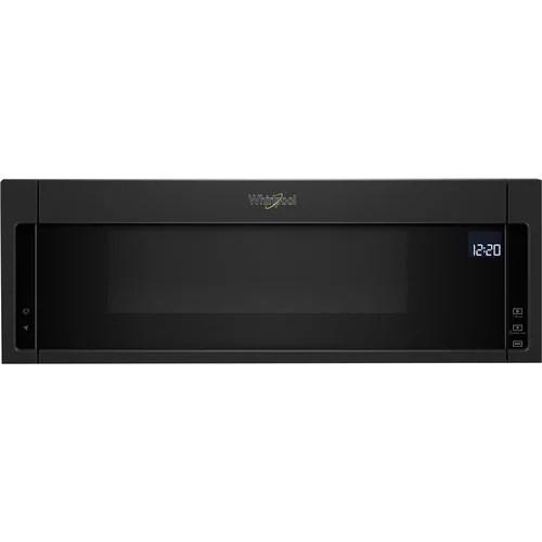 whirlpool 1 1 cu ft low profile over the range microwave hood combination black