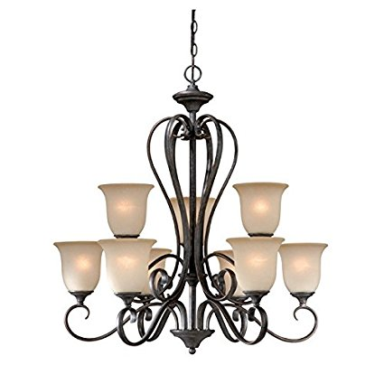 patriot lighting riviera 9 light antique pewter chandelier