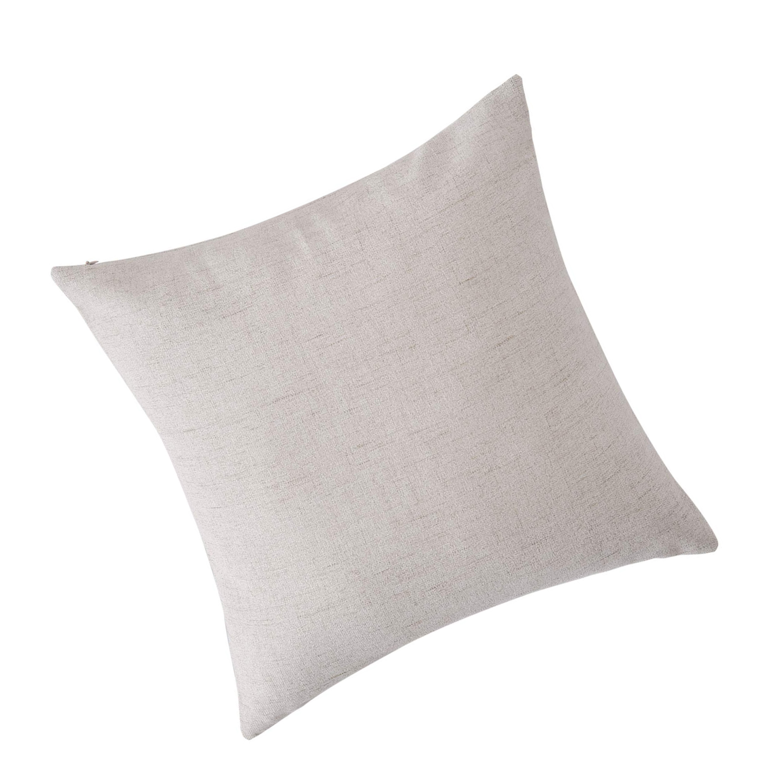 blank pillow covers throw cushion cover faux linen look decorative pillowcases for sofa 18 x 18 inch cream set of 4 no pillow insert walmart com