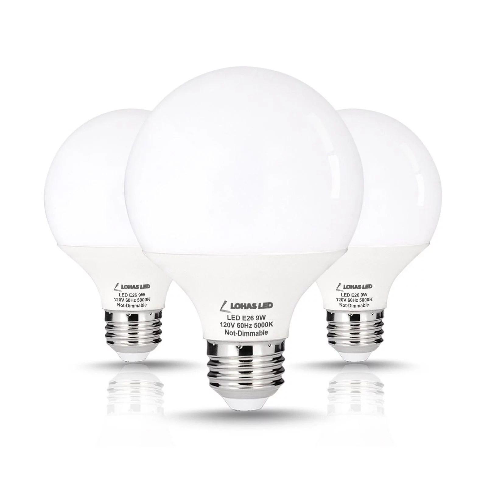 Lohas 9 Watt Led Globe Bulb G25 Led Bulbs 60watt Vanity