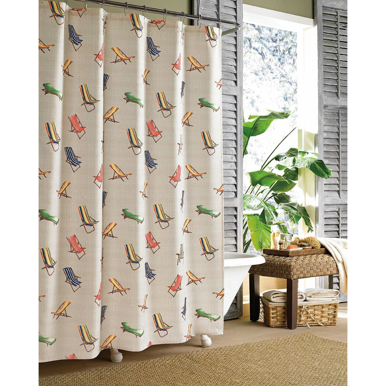 tommy bahama beach chairs shower curtain by revman