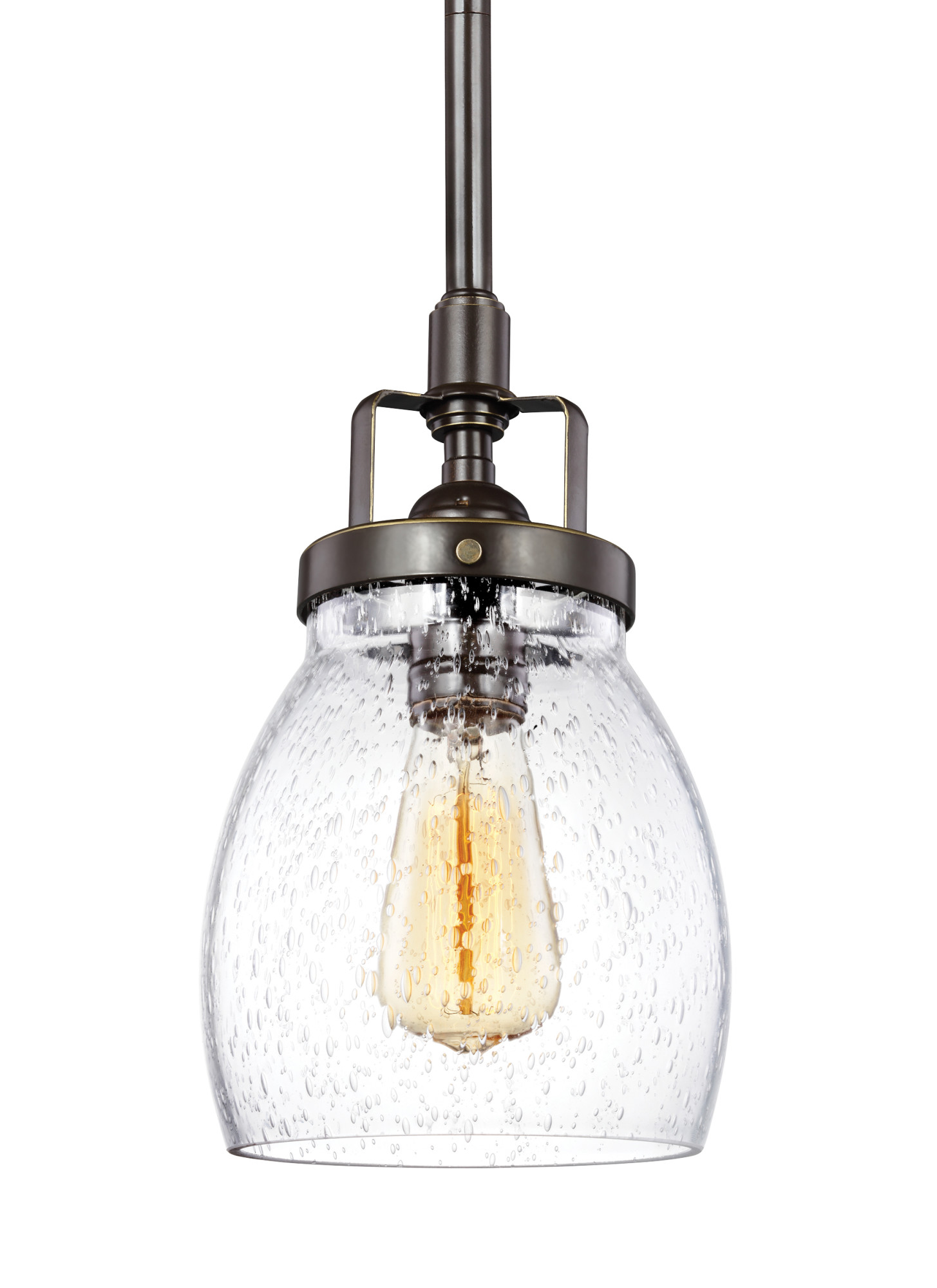 sea gull lighting 6114501 belton 1 light 5 3 8 wide mini pendant walmart com