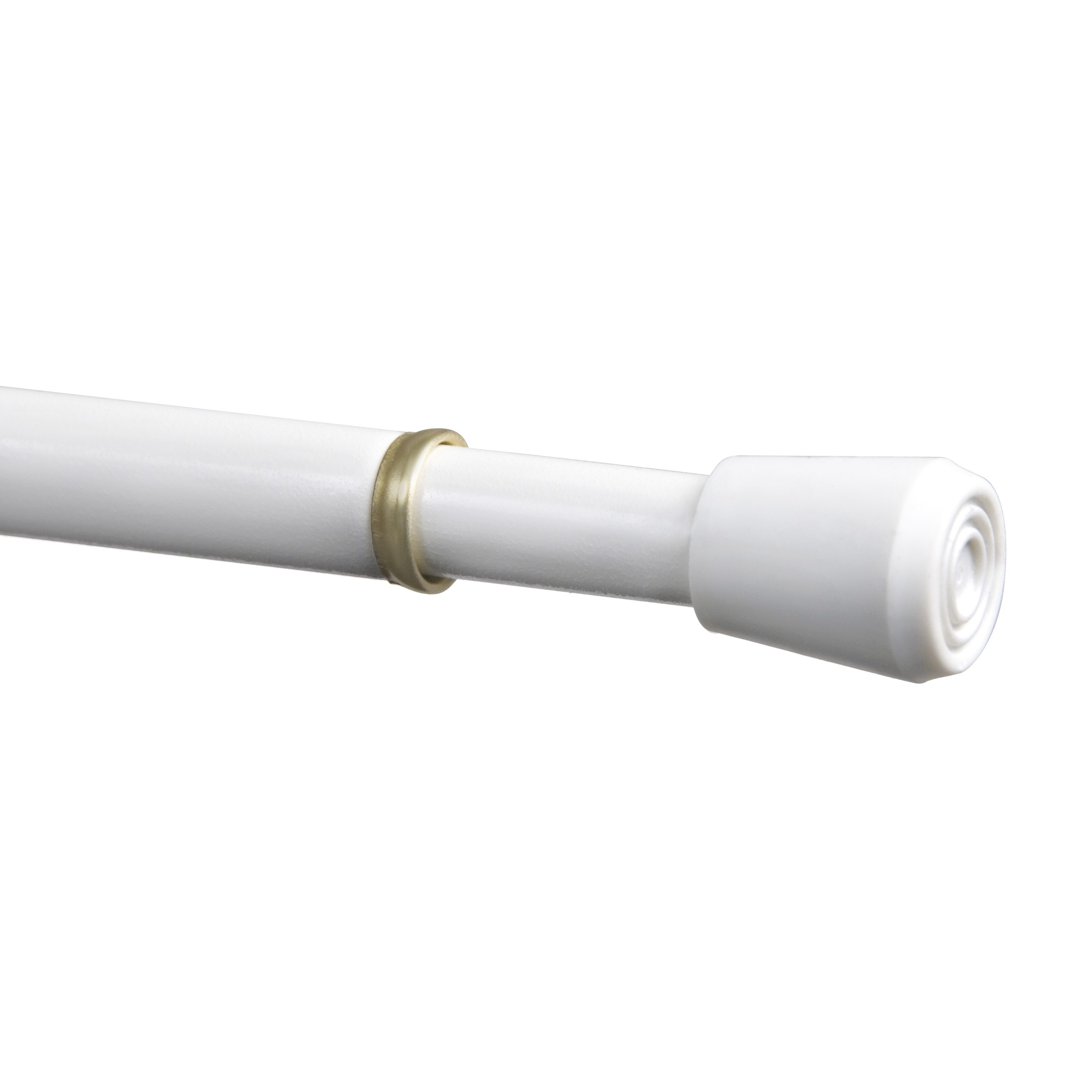 84 inch to 120 inch adjustable tension curtain rod