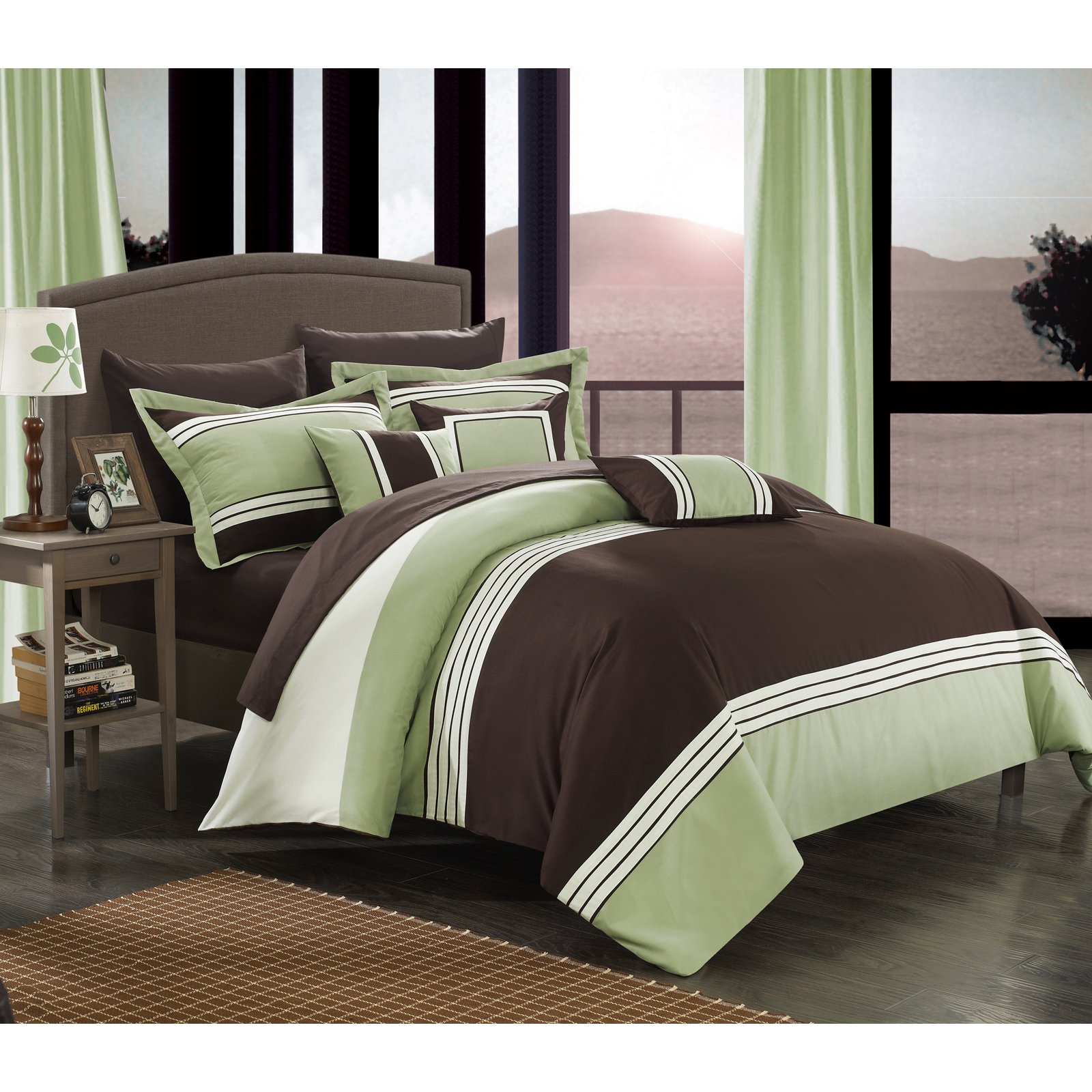 Chic Home 10 Piece Falconia Hotel Collection Striped