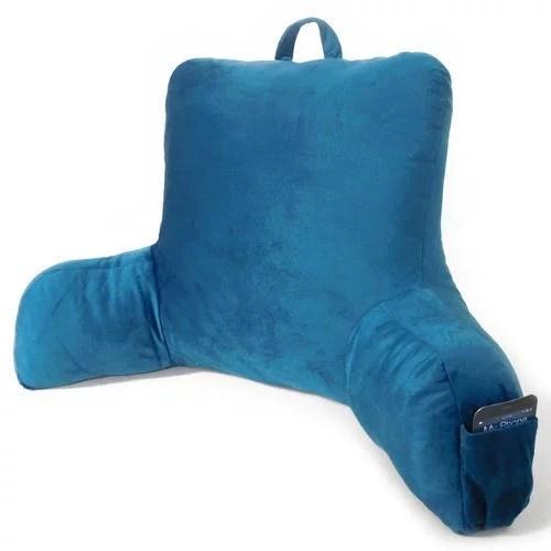 mainstays plush backrest pillow with pocket corsair