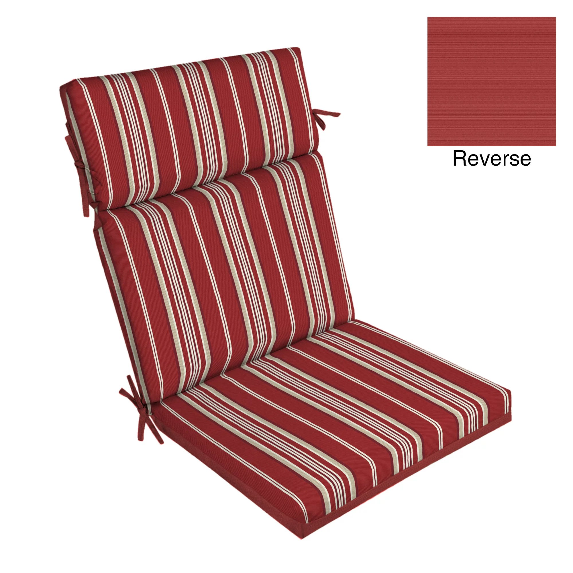 better homes gardens red stripe 44 x 21 in outdoor chair cushion