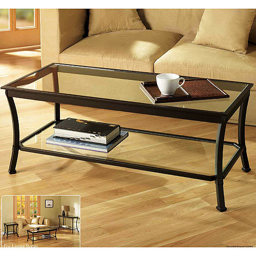 mendocino coffee table metal glass
