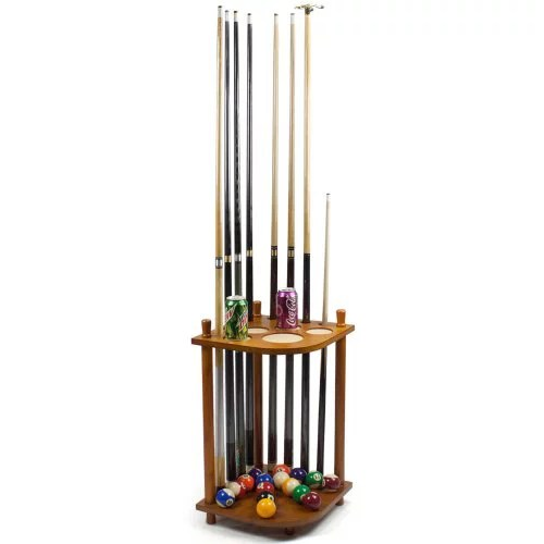 felson billiard supplies 8 cue corner pool cue rack easy to assemble pool cue rack made from beech wood