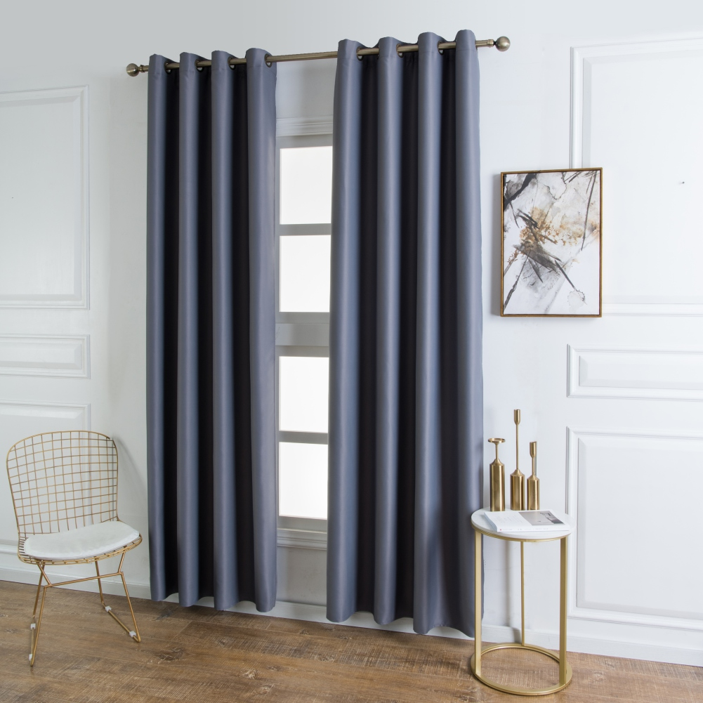 grommet top curtain window blackout curtain fabric modern curtains for living room bedroom window