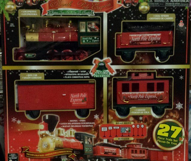 North Pole Express Christmas  Piece Train Set