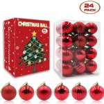 24pcs Christmas Balls Ornaments For Christmas Tree 6 Style Christmas Tree Decorations Hanging Ball For Holiday Wedding Party Decoration Gold Walmart Canada