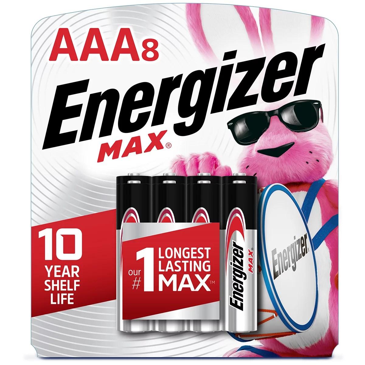 Energizer MAX AAA Batteries, Alkaline Triple A Batteries (8 Pack)