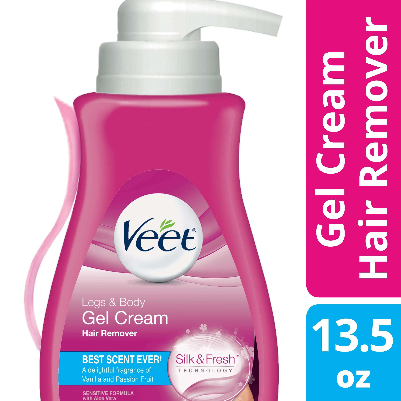 Veet Gel Hair Remover Cream For Legs And Body Sensitive Formula   Fl Oz  Ml Walmart Com