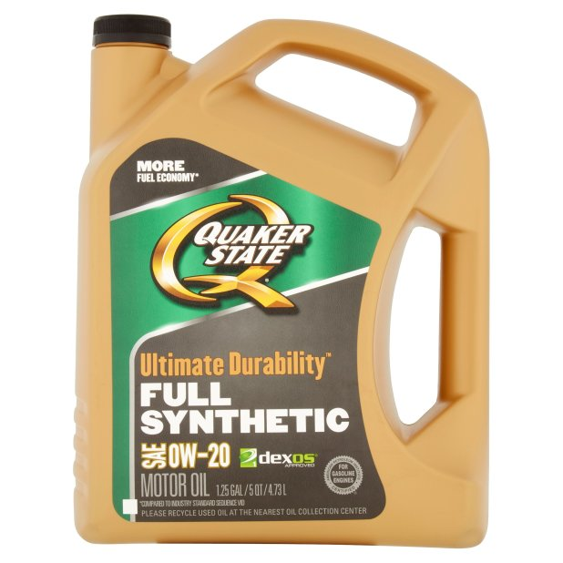 Quaker State Ultimate Durability Full Synthetic Sae 0w 20 Motor Oil 1 25 Gal Com