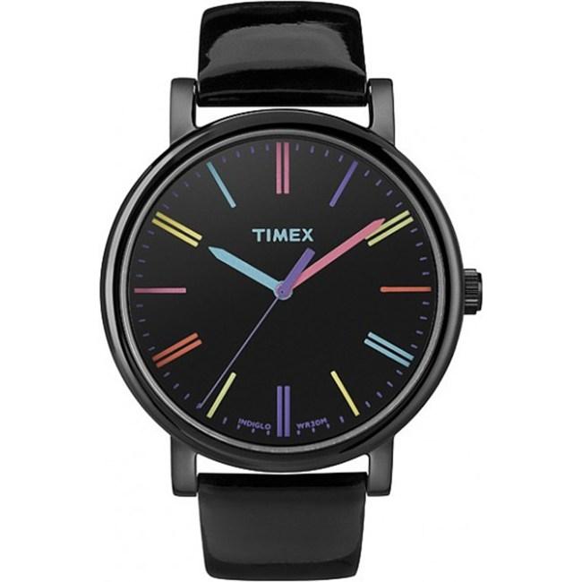 Timex Women's Easy Reader T2N790 Black Leather Quartz Fashion Watch