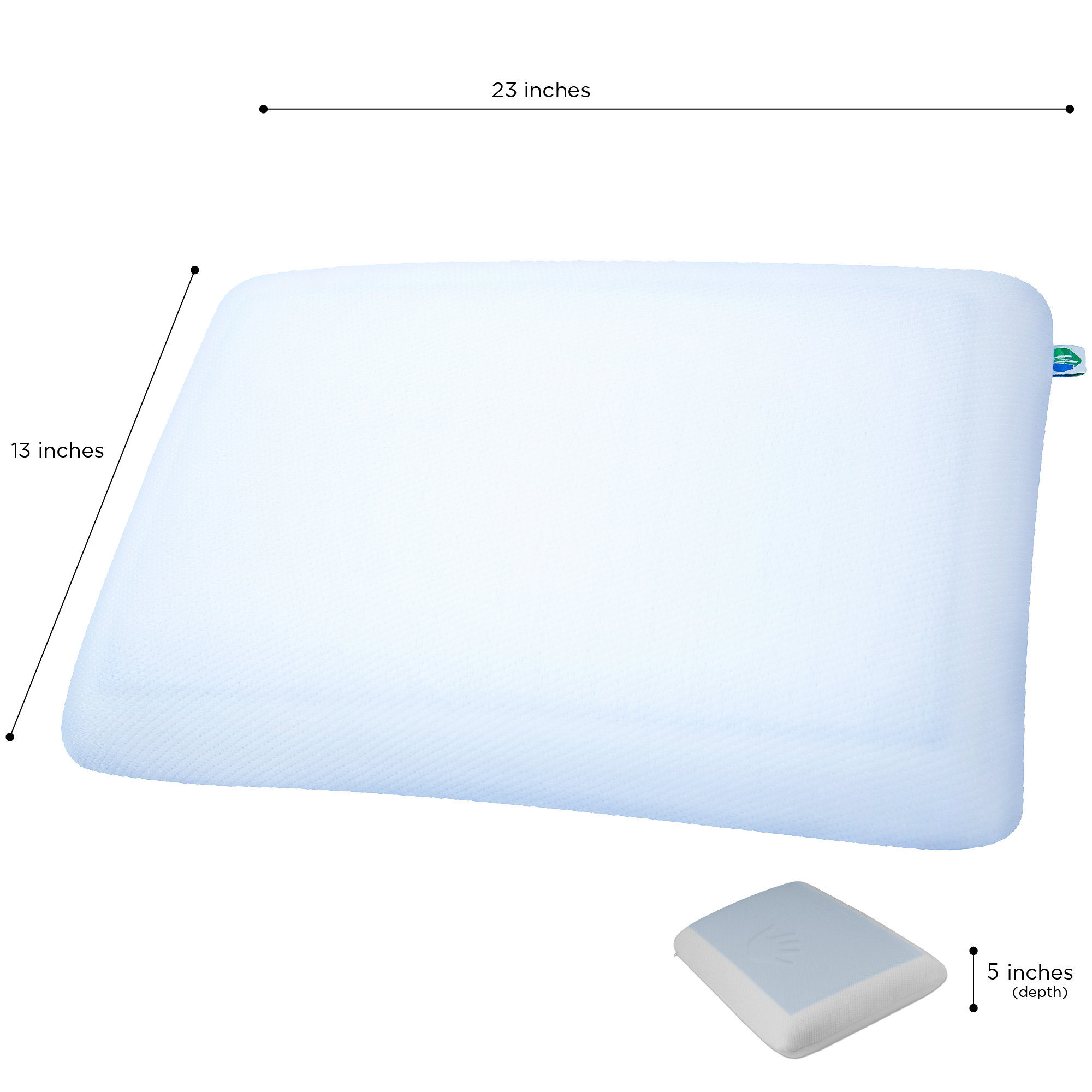 2 pack pharmedoc memory foam pillow with cooling gel extra comfortable pillow with a washable pillow case firm pillow with firm density foam