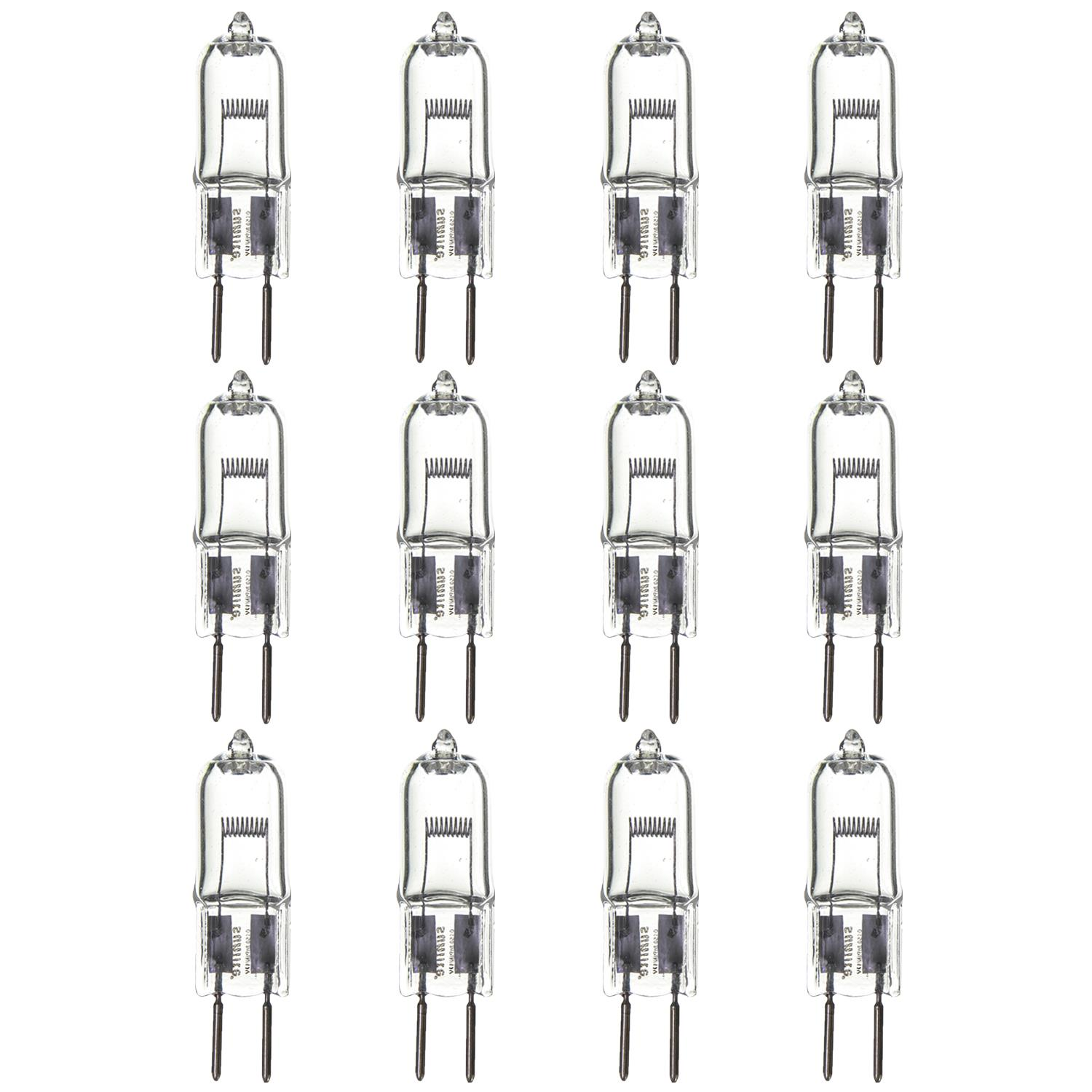 12 Pack Sunlite Halogen 150 Watt Single Ended T3 5 Gy6 35 Base 12v Clear Light Bulb