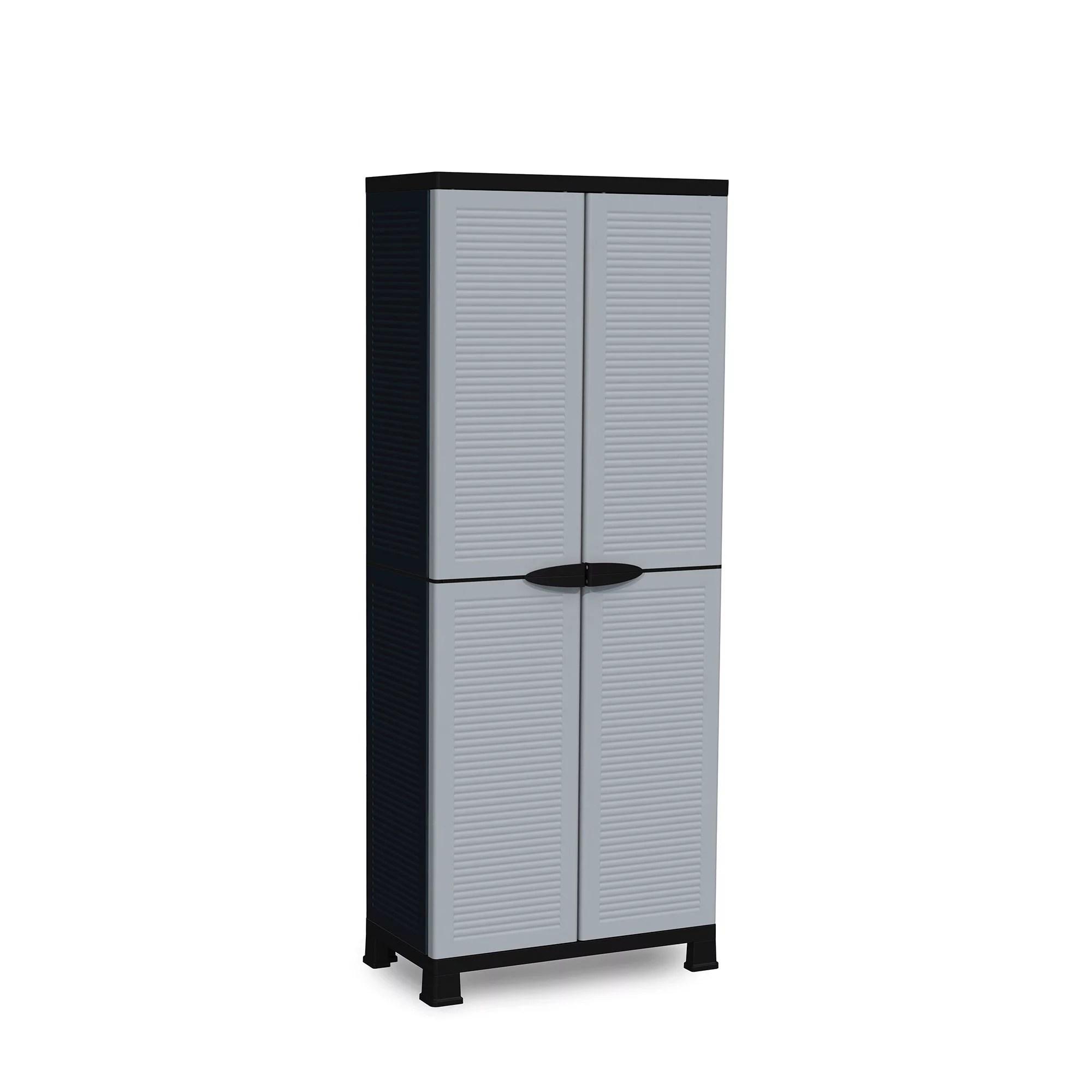 ram quality products prestige utility 3 shelf lockable storage cabinet black