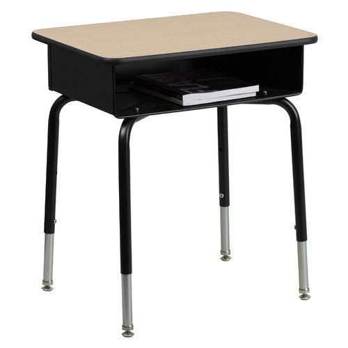 Flash Furniture Wood Adjustable Height Open Front Desk