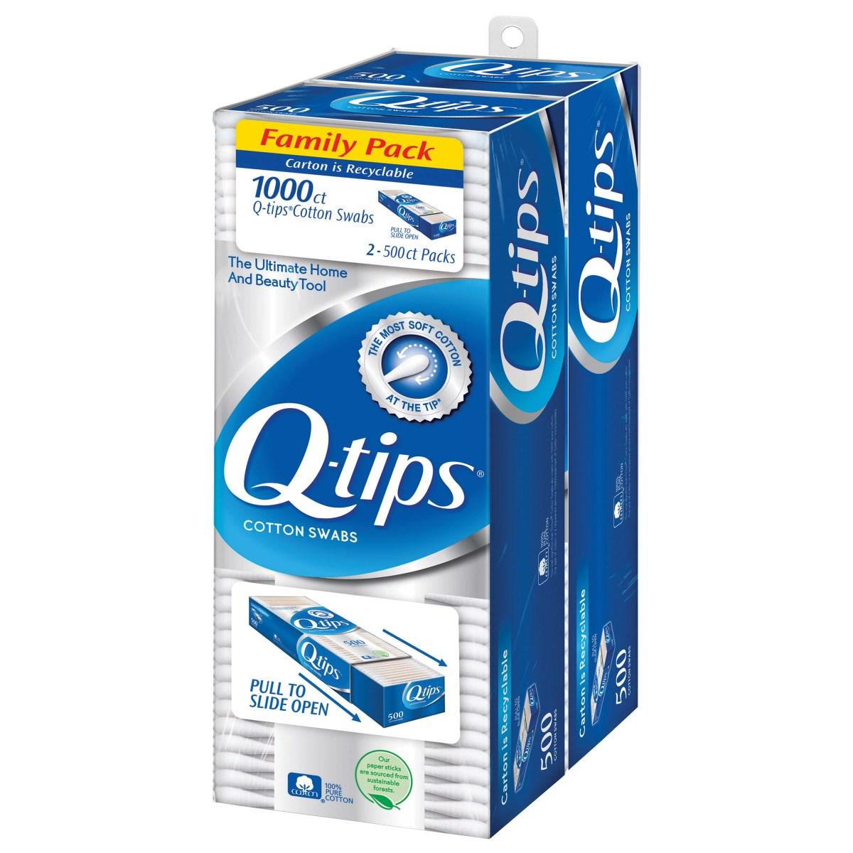 Q-tips Original Cotton Swabs 1000 count