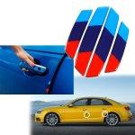 Xotic Tech M Colored M3 Style Sticker For Bmw Car Side Door Edge Protection Guards Trim Universal Fit 4pcs Walmart Com Walmart Com
