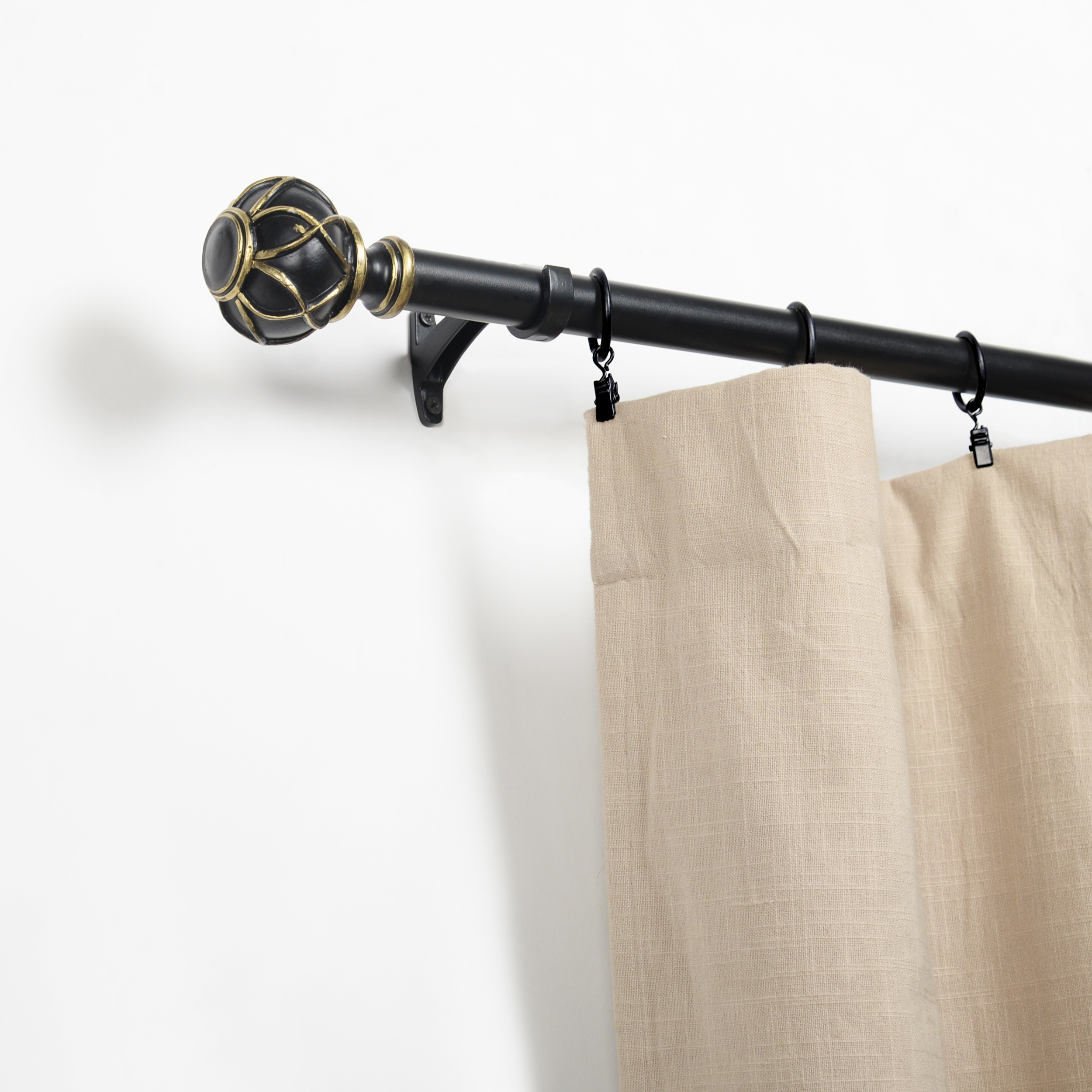 iron and resin galaxy expandable curtain rod