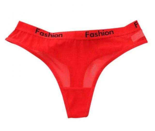Ropalia Sexy Women G String Underwear See Through Mesh High Waist Panties Thongs