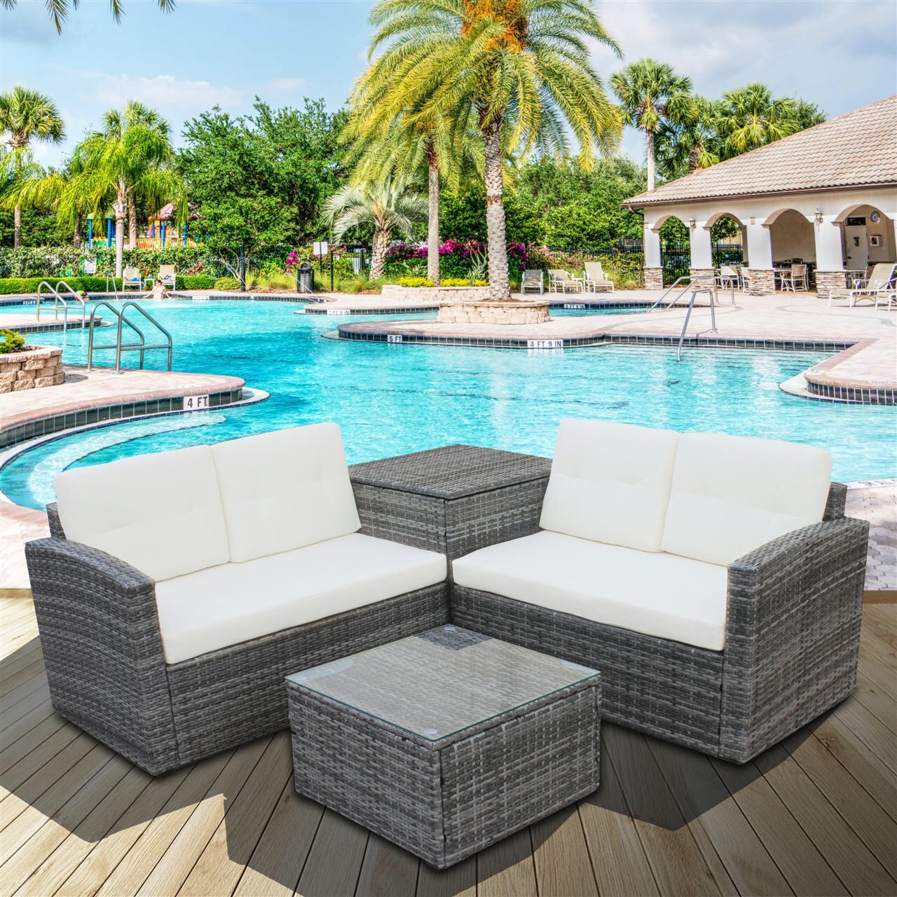 wicker patio sets on clearance 2 rattan wicker chairs with glass table and storage cabinet 4 piece outdoor patio dining set patio sofa set with