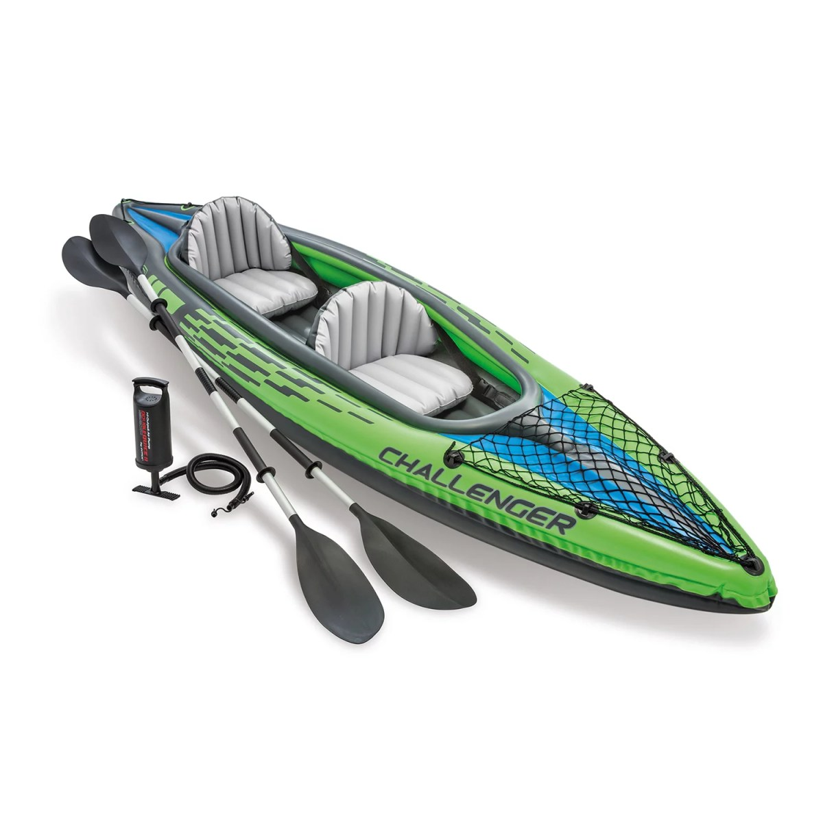 Intex Challenger K2 Inflatable Kayak with Oars and Hand Pump