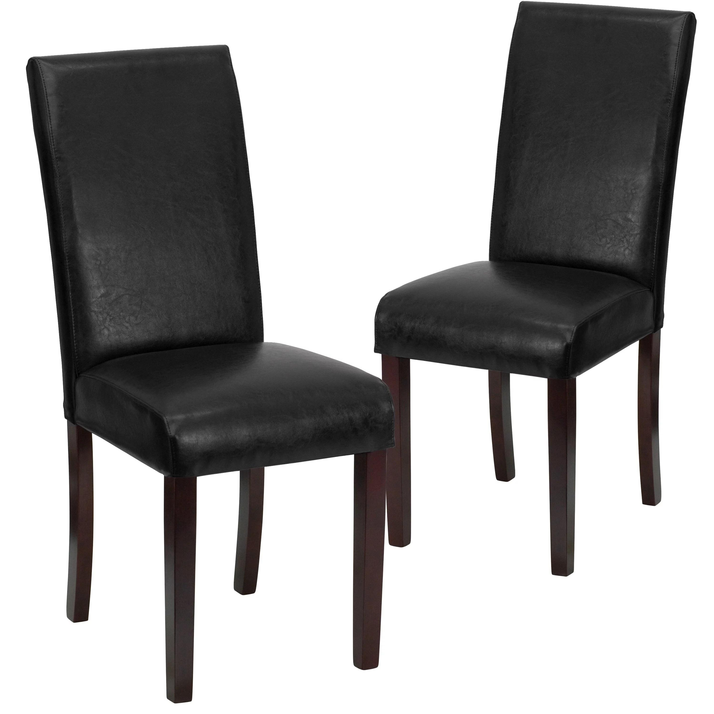 Lancaster Home Leather Parsons Chair Walmart Com